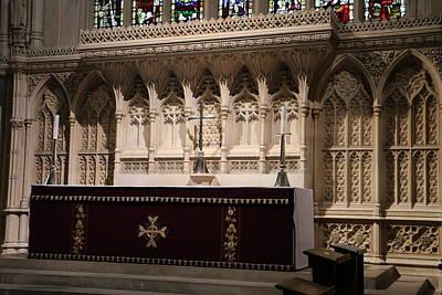 Photograph - Bath Abbey Altar by Denise Cicchella