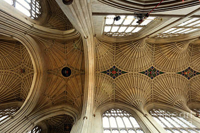 Photograph - Bath Abbey Ceiling by Paul Cowan
