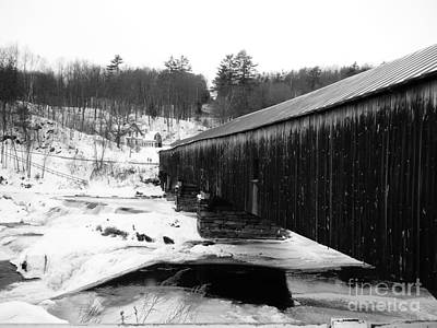 Photograph - Bath Covered Bridge by Barbara Bardzik
