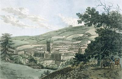 Valley Drawing - Bath by Hassell and Ibbetson