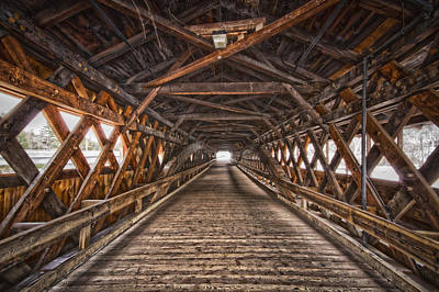 Photograph - Bath-haverhill Covered Bridge by Robert Clifford