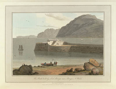 Bath House Bangor In North Wales Art Print by British Library