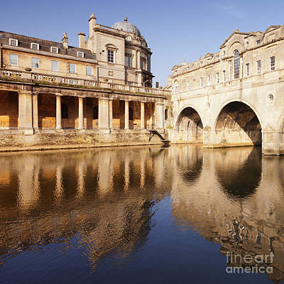 Somerset Photograph - Bath Pulteney Bridge And Colonnade Bath by Colin and Linda McKie
