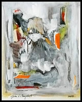 Painting - Bath Sheeba With Orange by John L Campbell