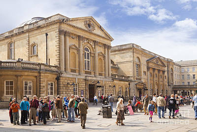 Crowd Scene Photograph - Bath Somerset by Colin and Linda McKie