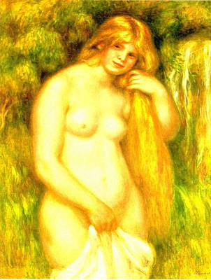 Digital Art - Bather I by Pierre-Auguste Renoir