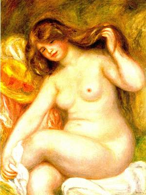 Digital Art - Bather II by Pierre-Auguste Renoir