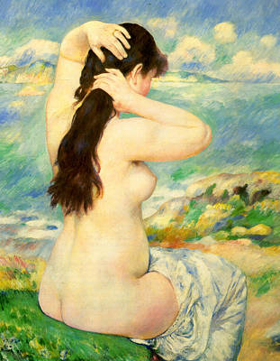 Digital Art - Bather IIi by Pierre-Auguste Renoir