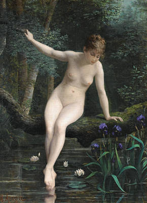 Marguerite Flowers Painting - Bather by Marguerite Arosa