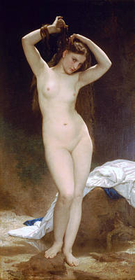 Bather Art Print by William-Adolphe Bouguereau