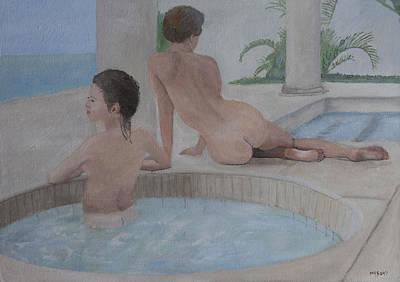 Painting - Bathers by Masami Iida