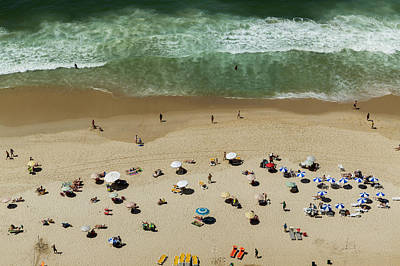 Photograph - Bathers On The Beach Of Ipanema by Buena Vista Images