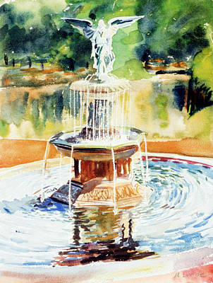 Bathesda Fountain Art Print