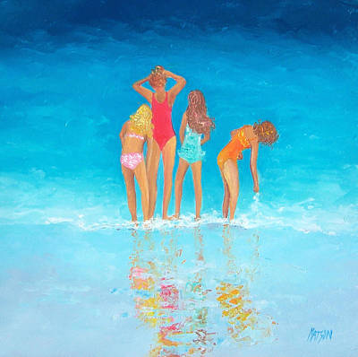 Summer Holiday Painting - Bathing Beauties By Jan Matson by Jan Matson