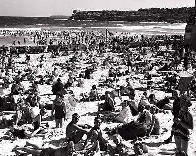 Bondi Photograph - Bathing Beauties On Beach Bondi by Retro Images Archive
