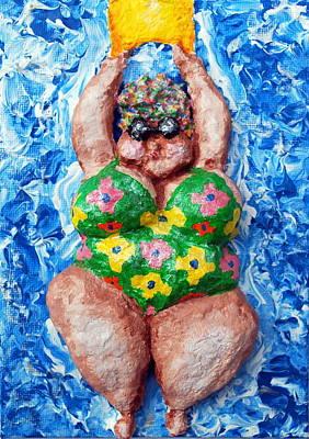 Bathing Beauty Art Print by Alison  Galvan