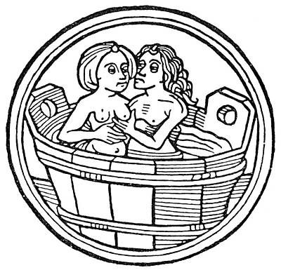 Painting - Bathing, C1480 by Granger