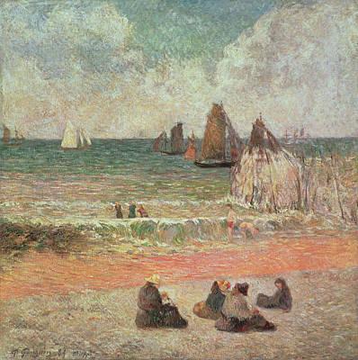 Painting - Bathing Dieppe by Paul Gauguin