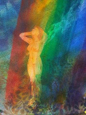 Bathing In Light Art Print