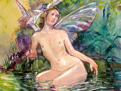 Painting - Bathing Pixie by Mark Lunde