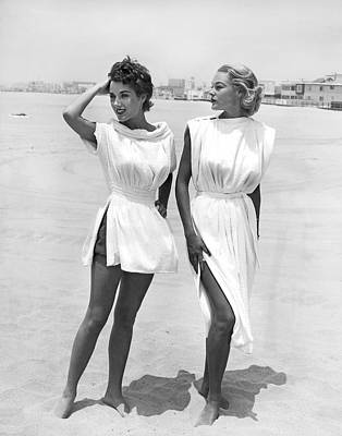 Photograph - Bathing Suit Cover Ups by Underwood Archives
