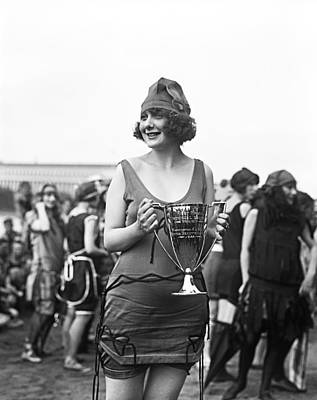 Bathing Photograph - Bathing Suit Winner by Underwood Archives