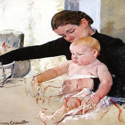 Painting - Bathing The Young Heir by Florene Welebny