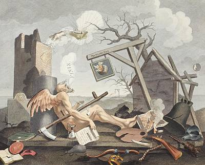 Satire Wall Art - Drawing - Bathos, Manner Of Sinking, In Sublime by William Hogarth