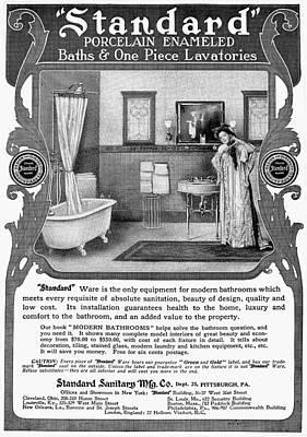 Bathroom Advertisement Art Print