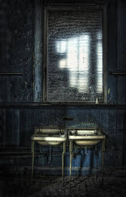 Wash Basins Photograph - Bathroom Blues by Jason Green