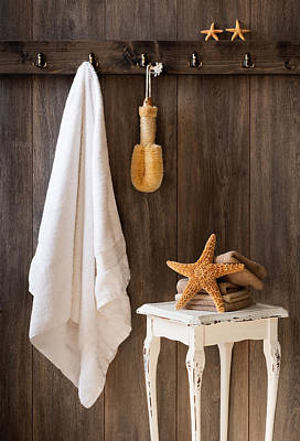 Ledge Photograph - Bathroom by Amanda Elwell