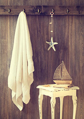 Toy Boat Photograph - Bathroom Interior by Amanda Elwell