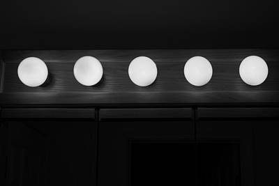 Photograph - Bathroom Lights by Mary Bedy