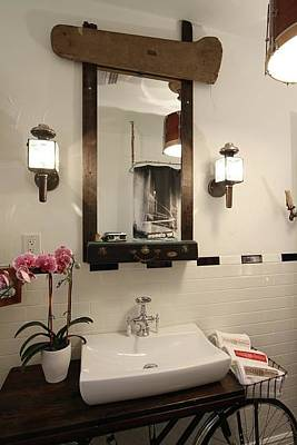Mixed Media - Bathroom Mirror 01 by Benjamin Bullins
