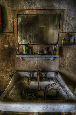 Bathroom Sink Art Print by Nathan Wright