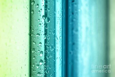 Shower Digital Art - Bathroom Stripes Abstract by Natalie Kinnear