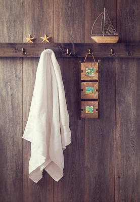 Toy Boat Photograph - Bathroom Wall by Amanda Elwell