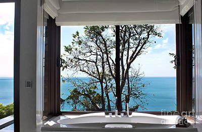 Bathroom With A View Art Print by Kaye Menner