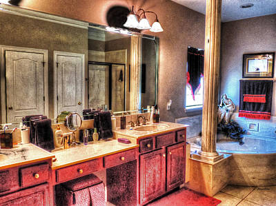 Photograph - Bathroom With Spa by Cathy Jourdan