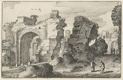 Baths Of Caracalla In Rome, Italy, Jan Van De Velde II Art Print by Jan Van De Velde (ii)