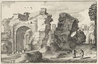 Baths Of Caracalla In Rome, Jan Van De Velde II Art Print by Jan Van De Velde (ii)