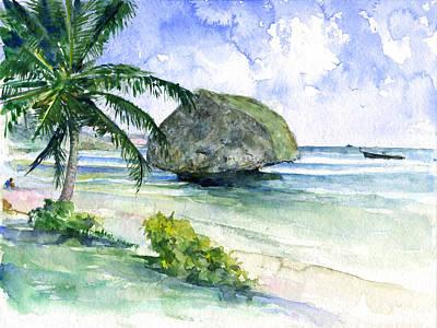 John Benson Painting - Bathseba Barbados by John D Benson