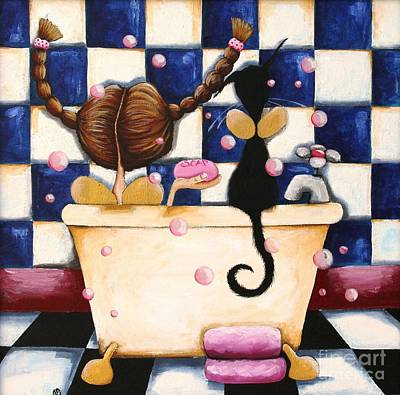 Painting - Bathtime Angels by Lucia Stewart