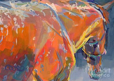 Racehorse Painting - Bathtime  by Kimberly Santini