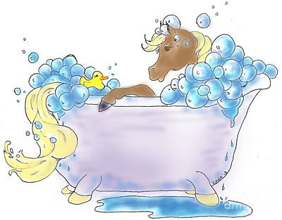 Digital Art - Bathtime by Vonda Lawson-Rosa