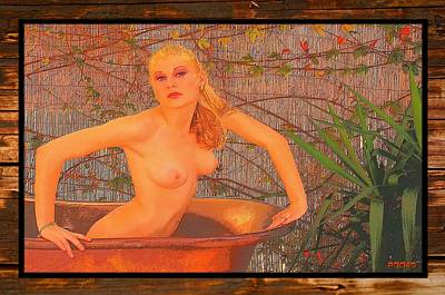 Portraits Photograph - Bathtub Art by Richard Hemingway
