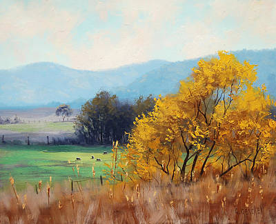 Impressionism Royalty-Free and Rights-Managed Images - Bathurst Landscape by Graham Gercken