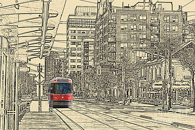 Photograph - Bathurst St. Street Car Scp by Nina Silver