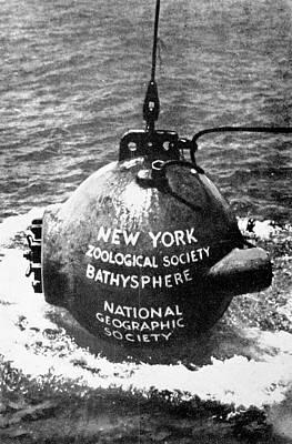 Otis Photograph - Bathysphere by Cci Archives
