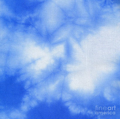 Fabric Tapestry - Textile - Batik Blue And White by Kerstin Ivarsson